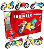 Bikes Sporty Harley Styles Construction Based Educational Toy For Kids Best gift for kids Age 6+ with guide book