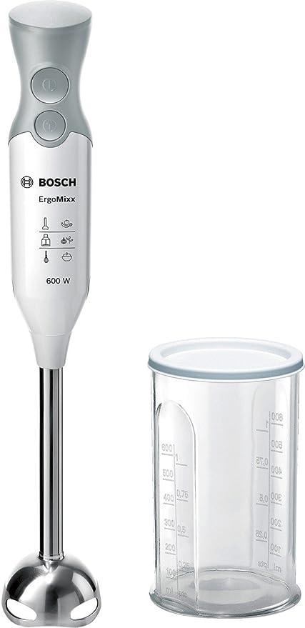 Bosch ErgoMixx MSM66110 - Batidora de mano, 600 W, regulador de velocidad y función Turbo, cúpula con cuatro cuchillas, con vaso de mezclas, color ...