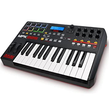 Akai Professional MPK225 | Compact 25-Key Semi-Weighted USB MIDI Keyboard  Controller Including Core Control From The MPC Workstations