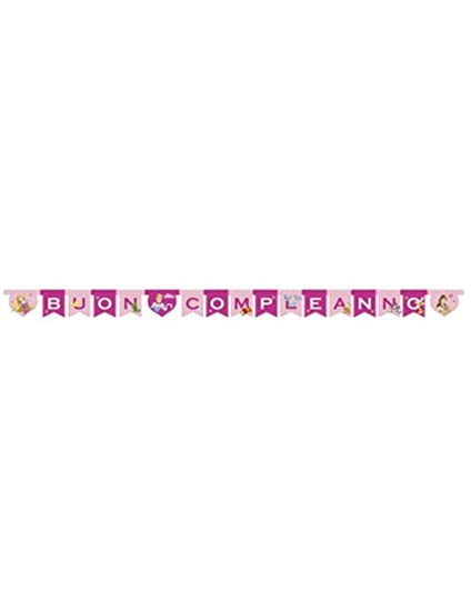 Procos guirnalda feliz Cumpleaños 240 x 15 cm Princesas ...