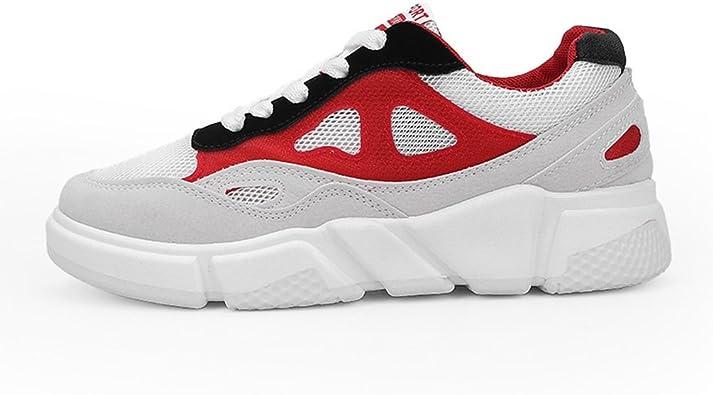 LFEU - Zapatillas de Running de Lona Mujer, (Gris Rouge), 37: Amazon.es: Zapatos y complementos