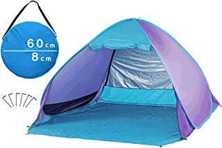 Abri instantané extérieur 3-4 personne grande taille Pop Up Sunshade Beach Tent Portable Sun Shelter Automatique Instantanée Famille UV Protection Canopée Tente Pour Camping Pêche Randonnée Pique-Niqu