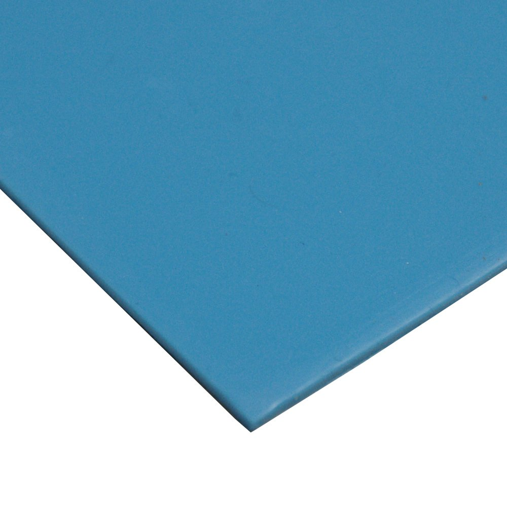 Blue 0.125 Thickness 36 Width 12 Length Rubber-Call 50A Durometer 36 Width No Backing 0.125 Thickness 12 Length Silicone Sheet Industrial 36-005U-125-036-012 Smooth Finish