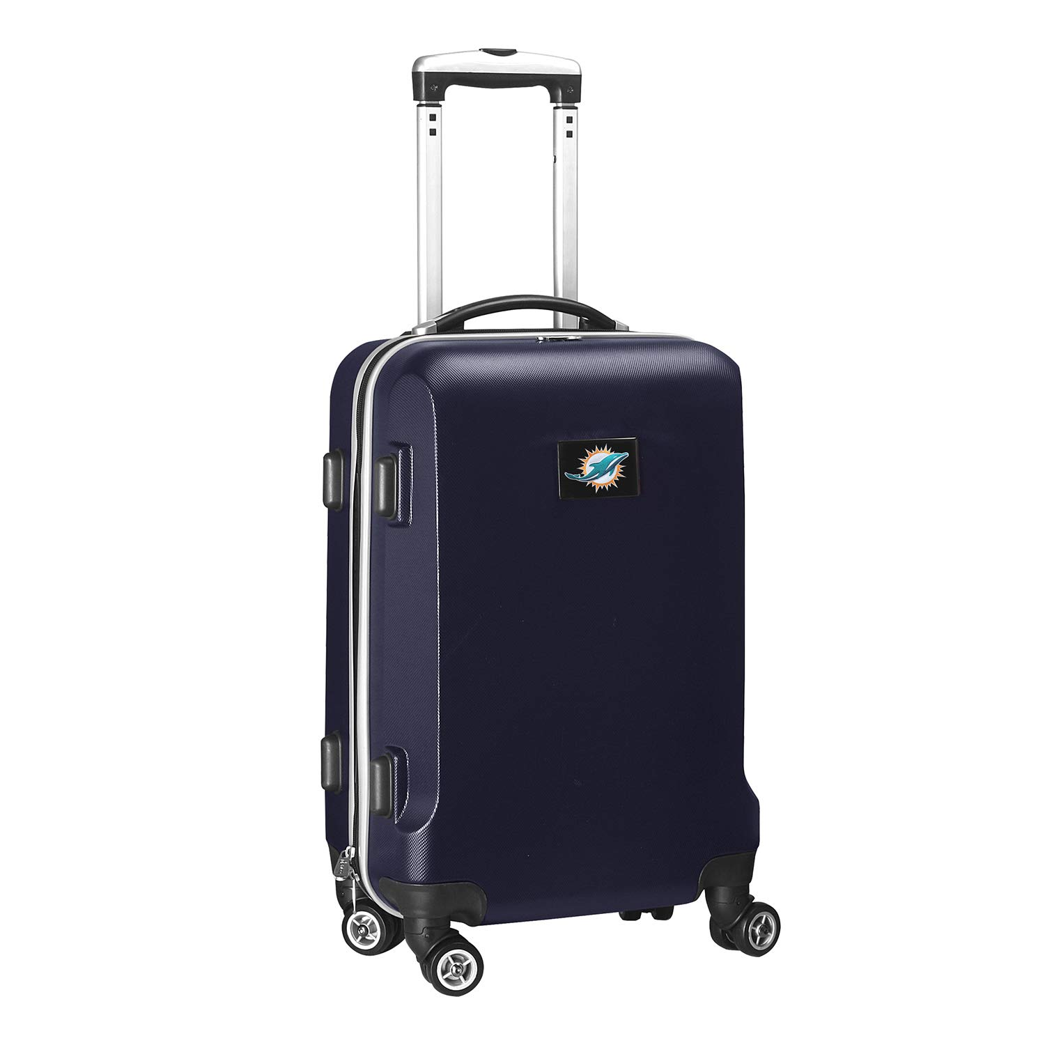 Denco NFL Miami Dolphins Carry-On Hardcase Luggage Spinner, Navy