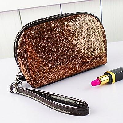 LULANPetit Sac cosmétique sac de fille simple ,17*6,5*12cm, couleur café