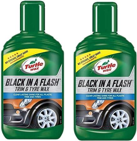 Turtle Wax 52812 Black In A Flash Restaurator Für Kunststoff Und Reifen Für Den Außenbereich 300ml Auto