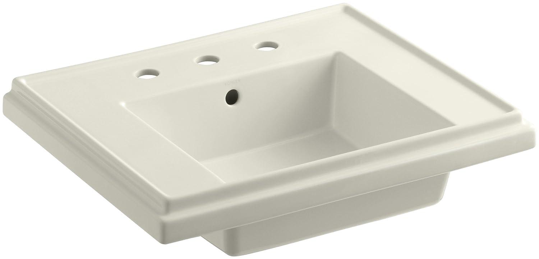 KOHLER K 2757 8 96 Tresham Bathroom Sink Basin With 8 Inch Widespread  Faucet Drilling, Biscuit   Pedestal Sinks   Amazon.com