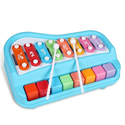 Eruditter Juguete Musical Bebé Juguete Xilófono Instrumentos Musicales para bebés Teclado de Piano y Martillo para