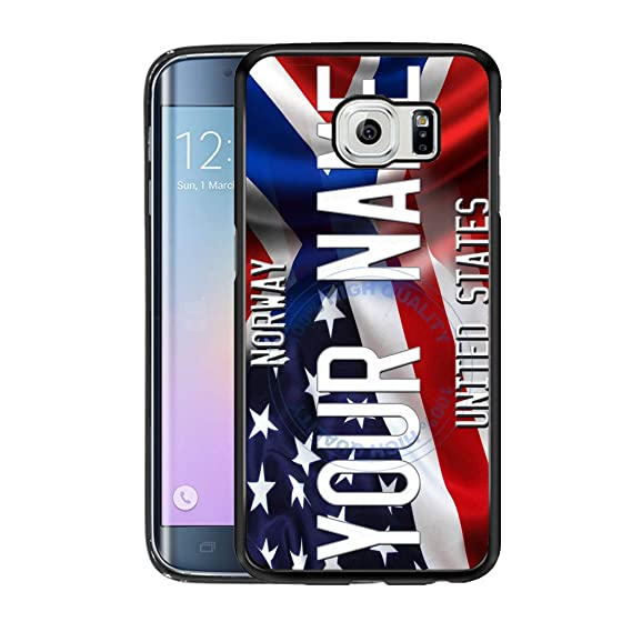 amazon com brgiftshop customize your own mixed usa and norway flagimage unavailable image not available for color brgiftshop customize your own mixed usa and norway flag rubber phone case for samsung galaxy s6