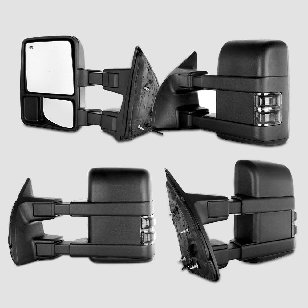 INEEDUP Tow Mirror Towing Mirror Fit for Ford F-250 F-350 F-450 F-550 Super Duty 2003 2004 2005 2006 2007 with Left Right Side Power Operation Heated with Turn Signal Light