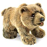 Folkmanis Puppets Grizzly Bear Hand Puppet, Brown