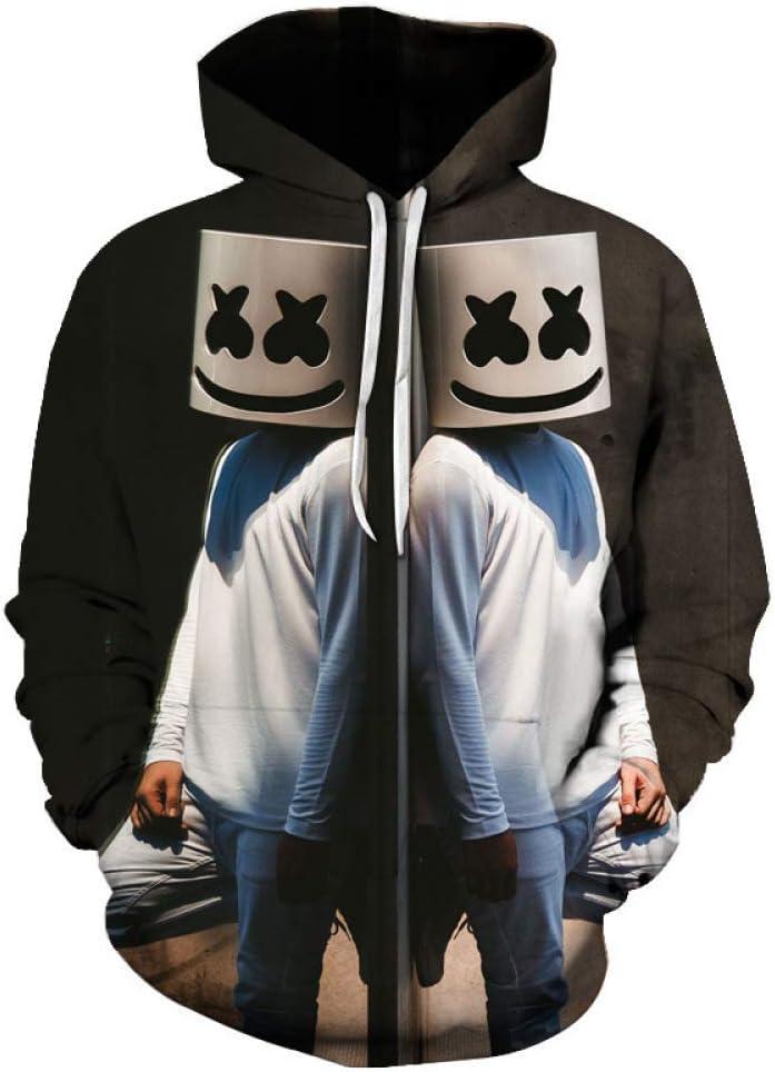Kids Boy Casual 3D Print Winter Autumn DJ Marshmallow Sweatshirt Pullover Jumper