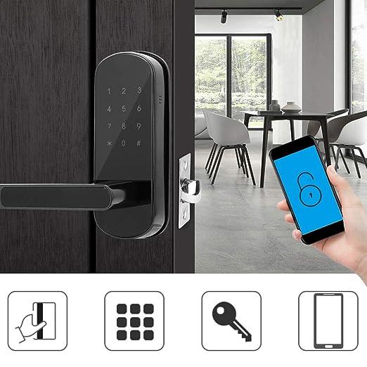 Cerradura de puerta inteligente, antirrobo Teclado táctil ...