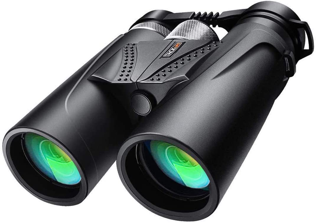 Binoculars, 10×42 Prism Binoculars for Adults, Professional HD Telescope for Birds Watching Concerts Hunting with BAK4 Prism FMC Lens, Aluminum Alloy Focus Ring, L-Shaped Bracket, Carrying Bag – MBC02
