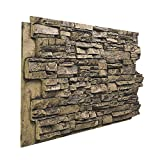 "BuyFauxStone 48""W X 24""H X 1½""D Deep Stacked Stone Wall Panel-MOCHA offers"