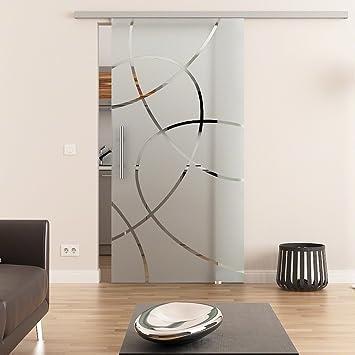 Dorint Puerta Corredera de Cristal Diseño decorativo de Dana templado de 8 mm 2175 X 775 mm Dorma Agile 50 – Herraje Barra Mango, Juego Completo para puerta y herraje: Amazon.es: Bricolaje y herramientas