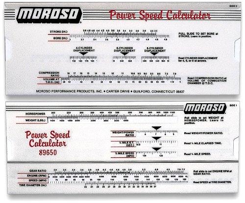 Engine Building Tools - Moroso 89650 Power Speed Calculator