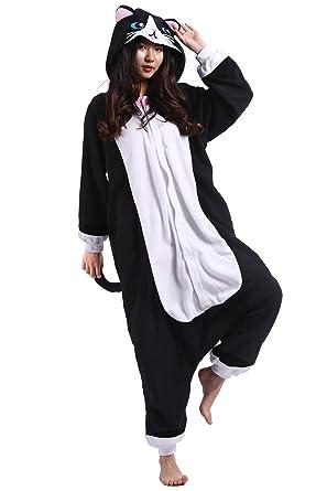 Pijama Animados Kigurumi Cosplay Gato Negro Animal para Adulto Unisex: Amazon.es: Ropa y accesorios
