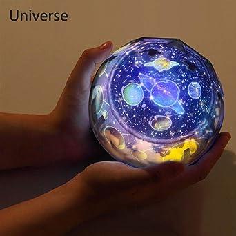 DGNXYD Luz Nocturna Luz De La Noche Planeta Proyector Mágico ...