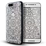 Nexus 6p case,Lizimandu TPU Soft Texture Case for Nexus 6p case(White Flower)