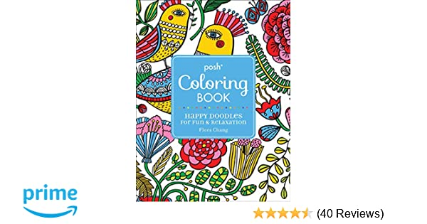 Amazon com: Posh Adult Coloring Book: Happy Doodles for Fun