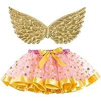 Holibanna Tutu Rok met Gouden Vleugel Eenhoorn Kostuum Jurken Fairy Cosplay Mesh Fancy Jurk Maat S