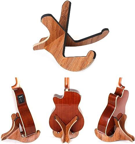 Lunji - Soporte para guitarra de madera, desmontable, pie de ...