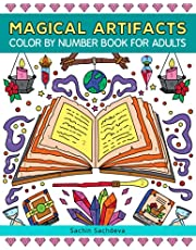 Magical Artifacts: Color By Number Book for Adults Relaxation and Stress Relief