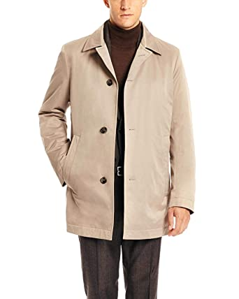 316a5d61d Hugo Boss Men's Dais 5 Water Repellent Trench Coat 48 Regular 48R Khaki
