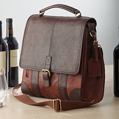 3 Three Bottle - 3-Bottle Leather BYO Wine Bag