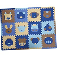 MagiDeal 12Pieces Soft Foam Children Play Mats Interlocking Baby Kids Gym Floor Playing Mat Tiles - Insects / Sheng-Xiao