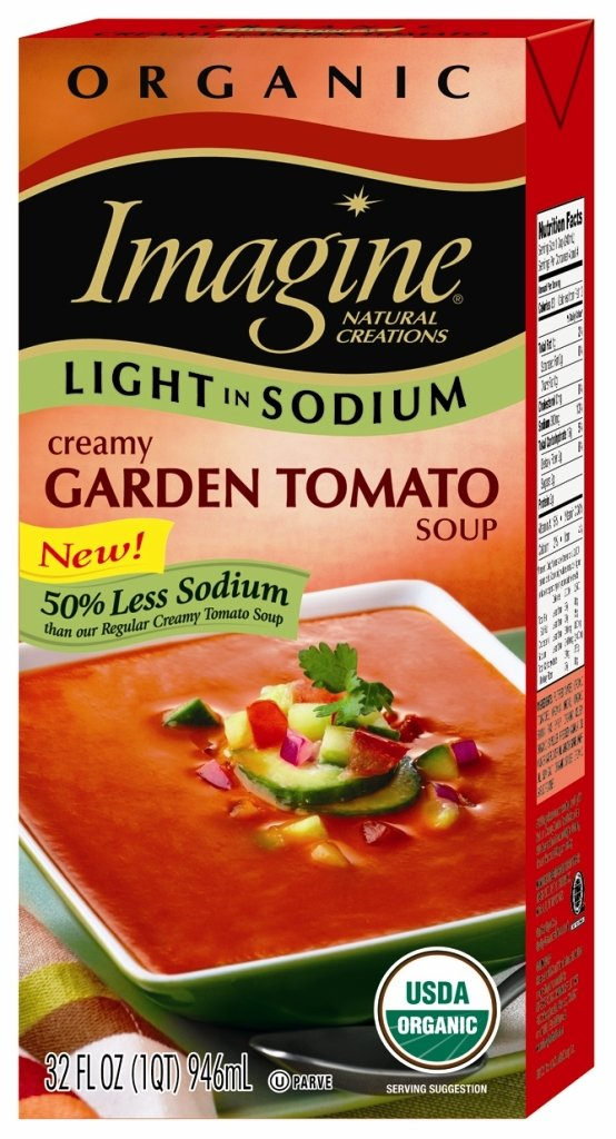 Imagine, Organic, Light in Sodium, Creamy Garden Tomato Soup, 32-Ounce (Pack of 6)