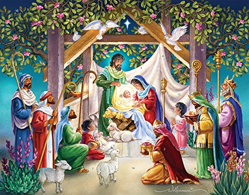 Vermont Christmas Company Magi at the Manger Advent Calendar with Nativity Story