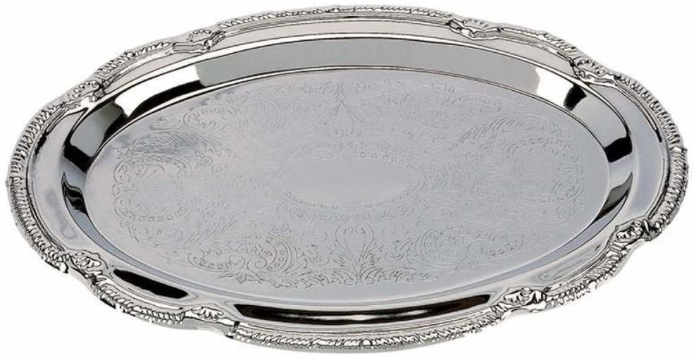 Decorative trays - Nickel Plated - (Set of 4 Oval Shaped trays)