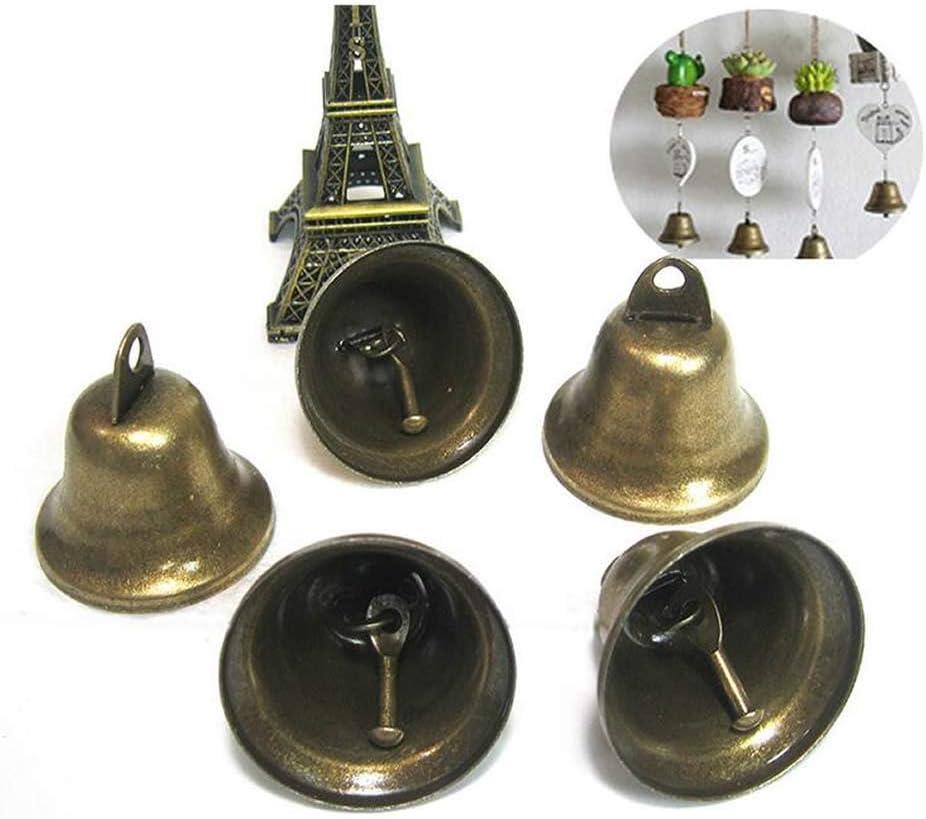 NUANNUAN 30 Piezas Campanillas de Metal té Mano Bell Timbre de Recepción Timbre de recepción de Hotel Campanilla Multifuncional Servicio Alarma Campana de Mano Navidad