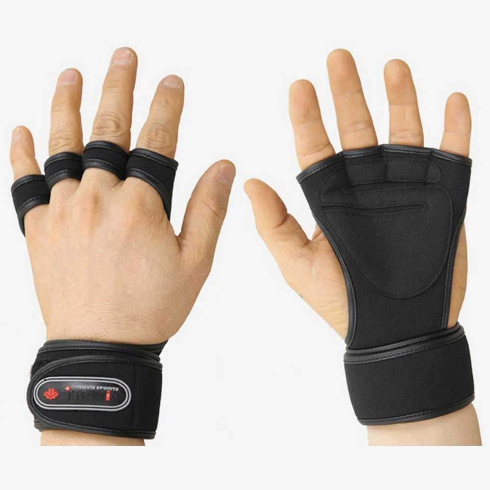 Weight Lifting Gloves With Wrap Around Wrist: GYM Weight Lifting Gloves Health Fitness