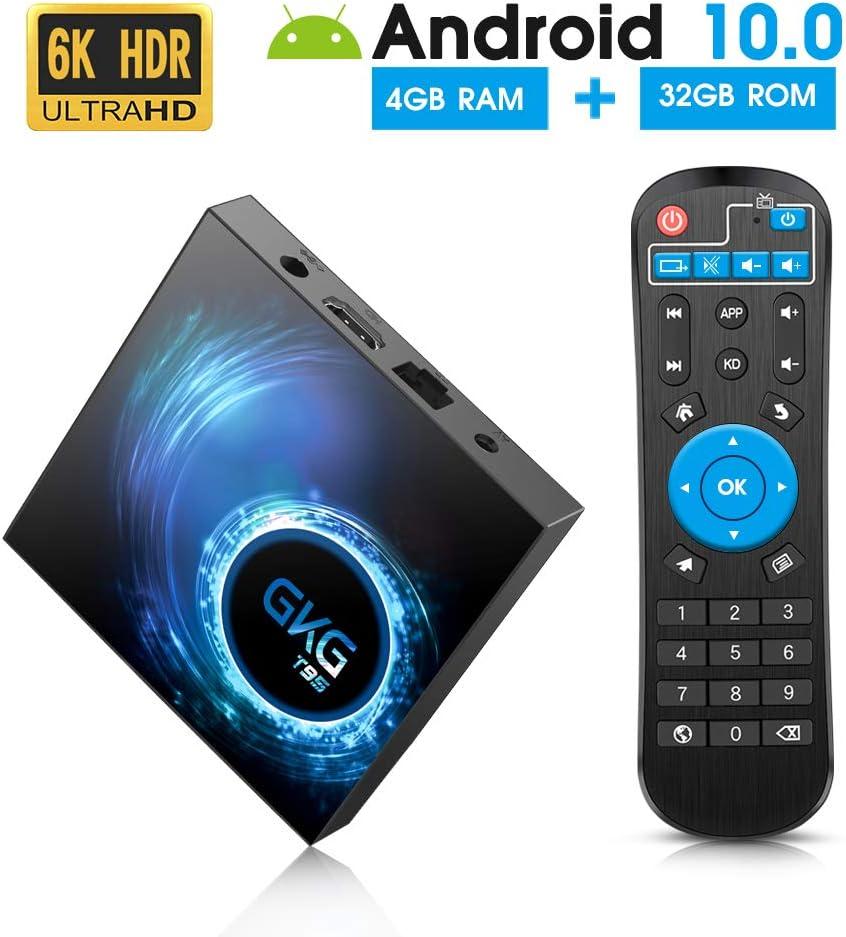 Android TV Box 10.0, GKG T95 TV Box 4GB RAM 32GB ROM Allwinner ...