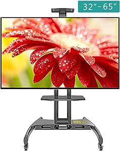 ZYH-Shelf TV Cart Soporte De TV Móvil para Pantalla Plana De 32-65 Pulgadas, LED, LCD, OLED, Soporte De Piso para TV De Plasma Soportes De TV Universal con Ruedas para Oficinas: Amazon.es: