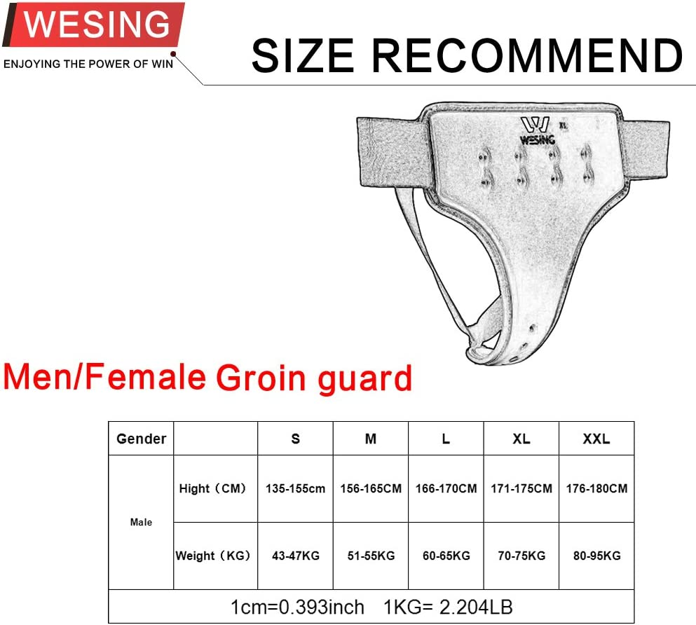 WESING Karate Groin Guard for Women Approved by WKF Groin Protector