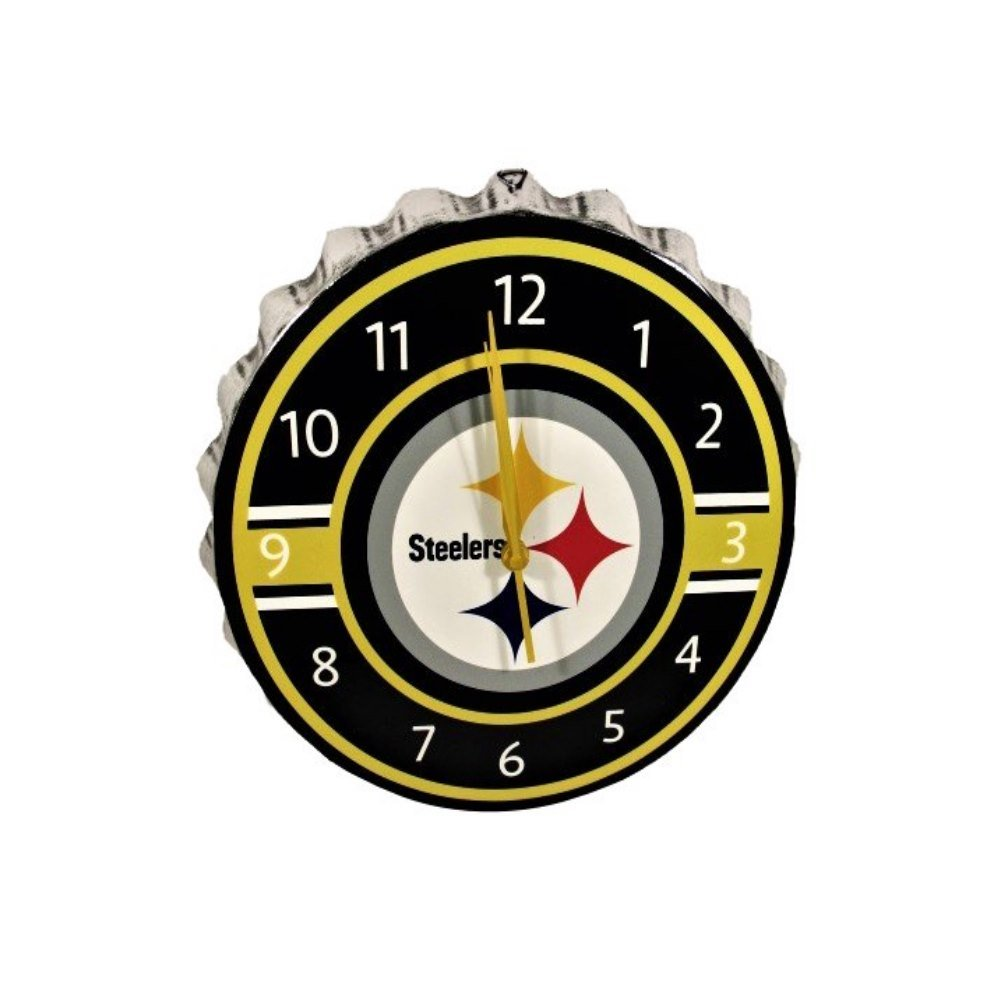 Pittsburgh Steelers Bottlecap Clock by FOCO