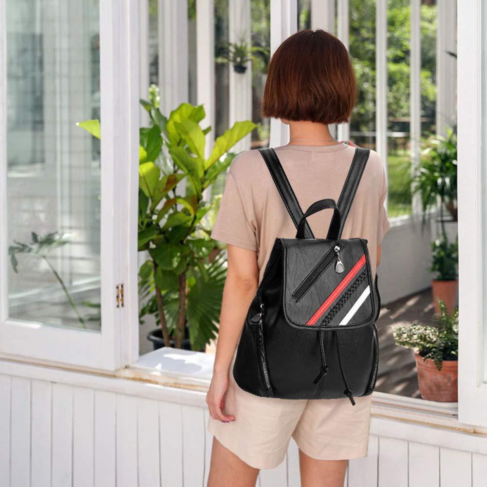Amazon.com: Mochila de piel sintética para mujer, mochila de ...