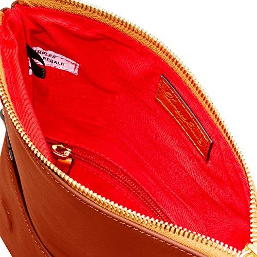 Shoulder Foldover Dooney Bag Bourke amp; Zip Crossbody Natural City wAqxzfaqRT