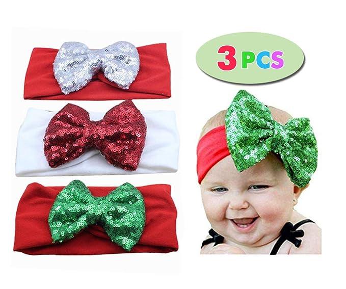 Baby Newborn Girls Hair Band Sequined Bow Headband Turban Knot Hair Accessories