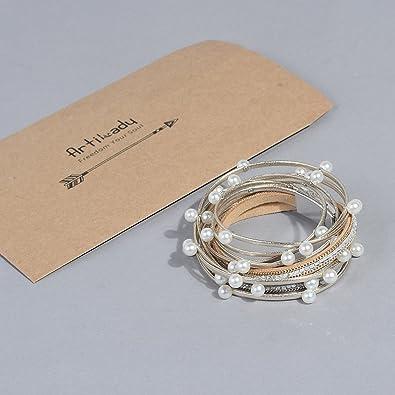 Artilady Shinning wrap Clasp Bangle for Women