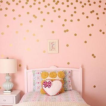 Amazon.com: Polka Dot Wall Decals Gold Mult Size Wall ...