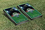 Seattle Sounders FC Rave Green Cornhole Game Set Soccer Field Version 1