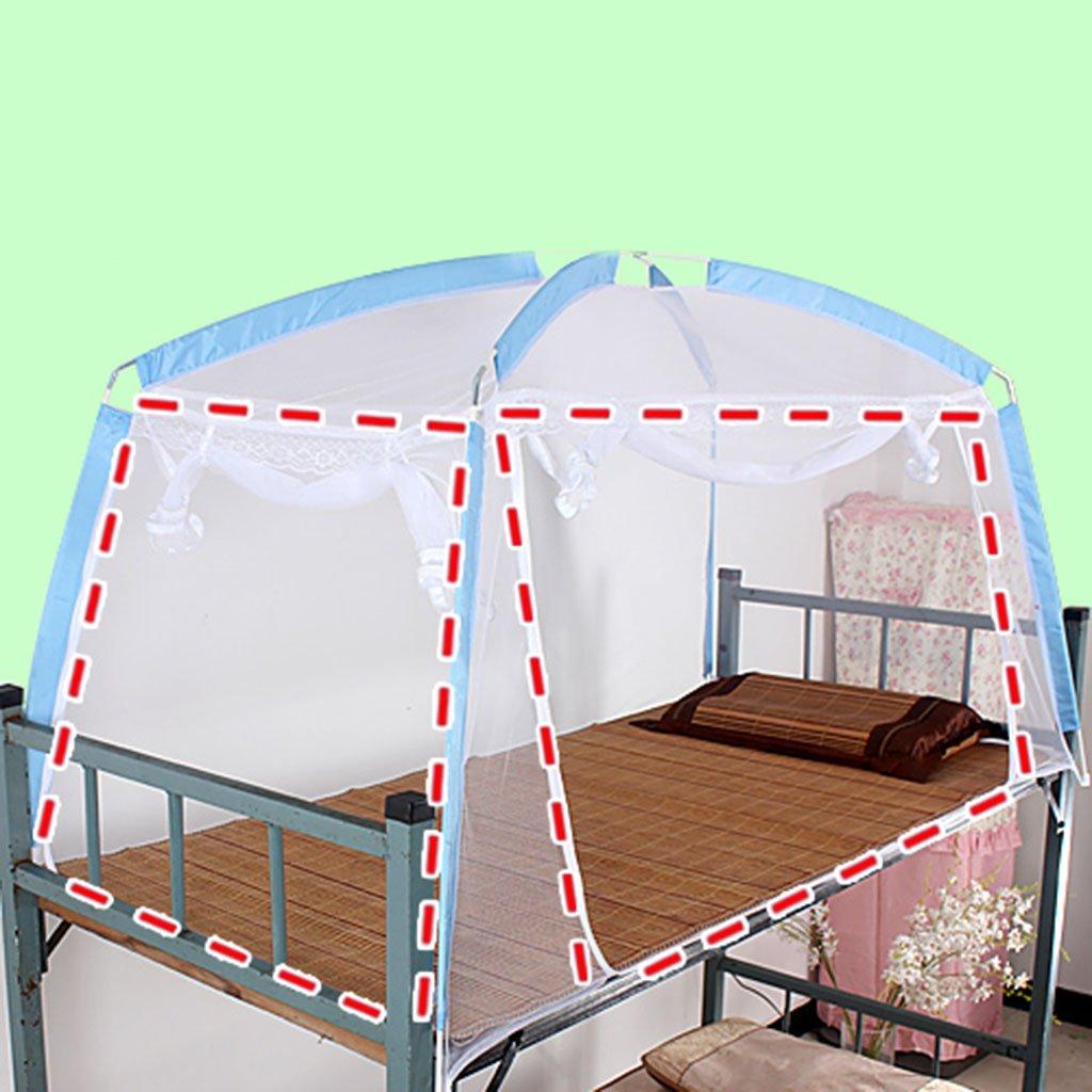 LI LU SHOP Mongolischen Beutelhalter Schlafzimmer Moskitonetze (Farbe : Blau, größe : 2door)