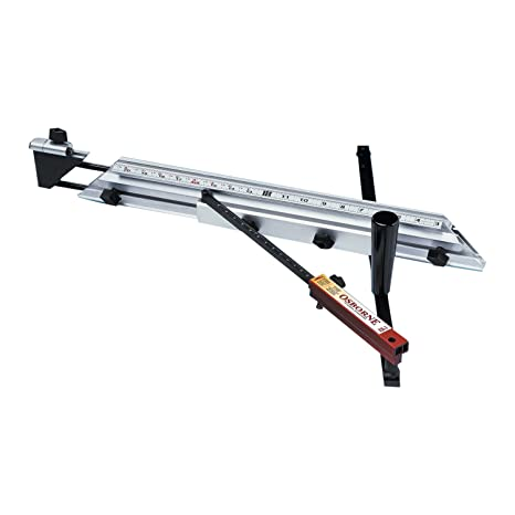 Osborne EB-3 Table Saw Miter Gauge with Triangular Stability and  Telescoping Fence