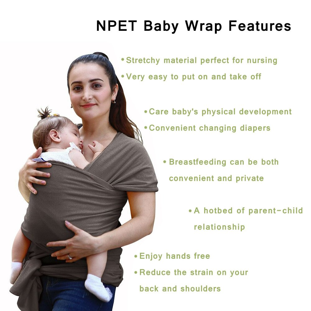 Amazon Com Npet Baby Wrap Carrier Original Natural Cotton Baby