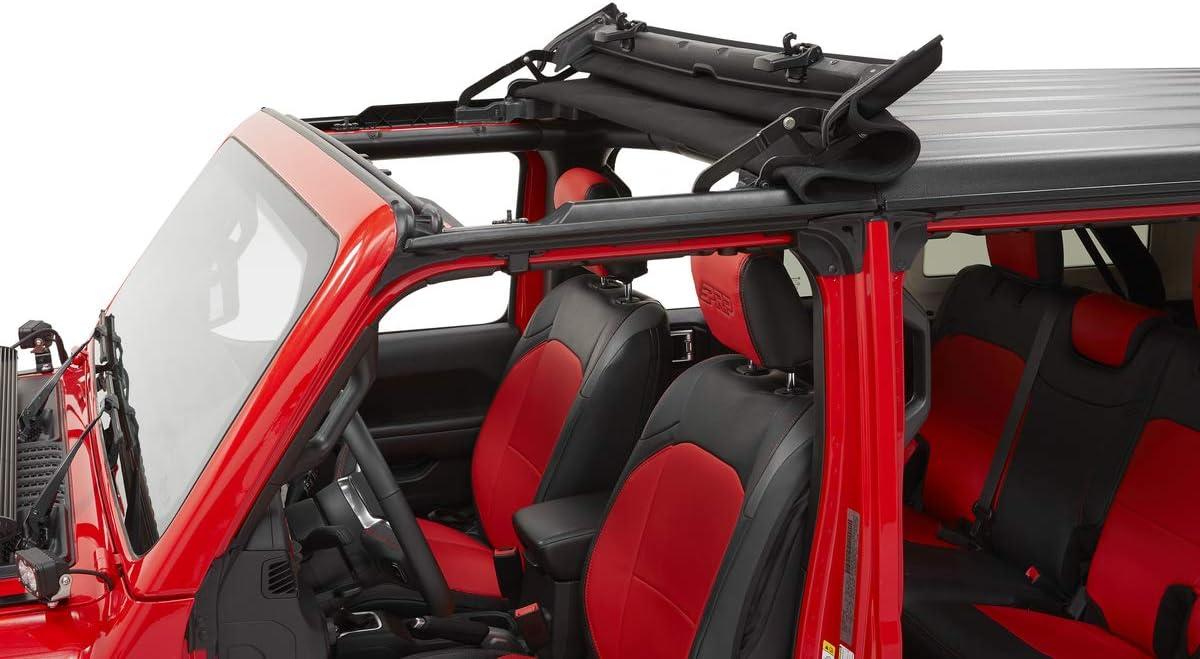 Bestop 5245217 Black Twill Sunrider for Hardtop 2018-Current Jeep Wrangler JK & 2020 Jeep Gladiator